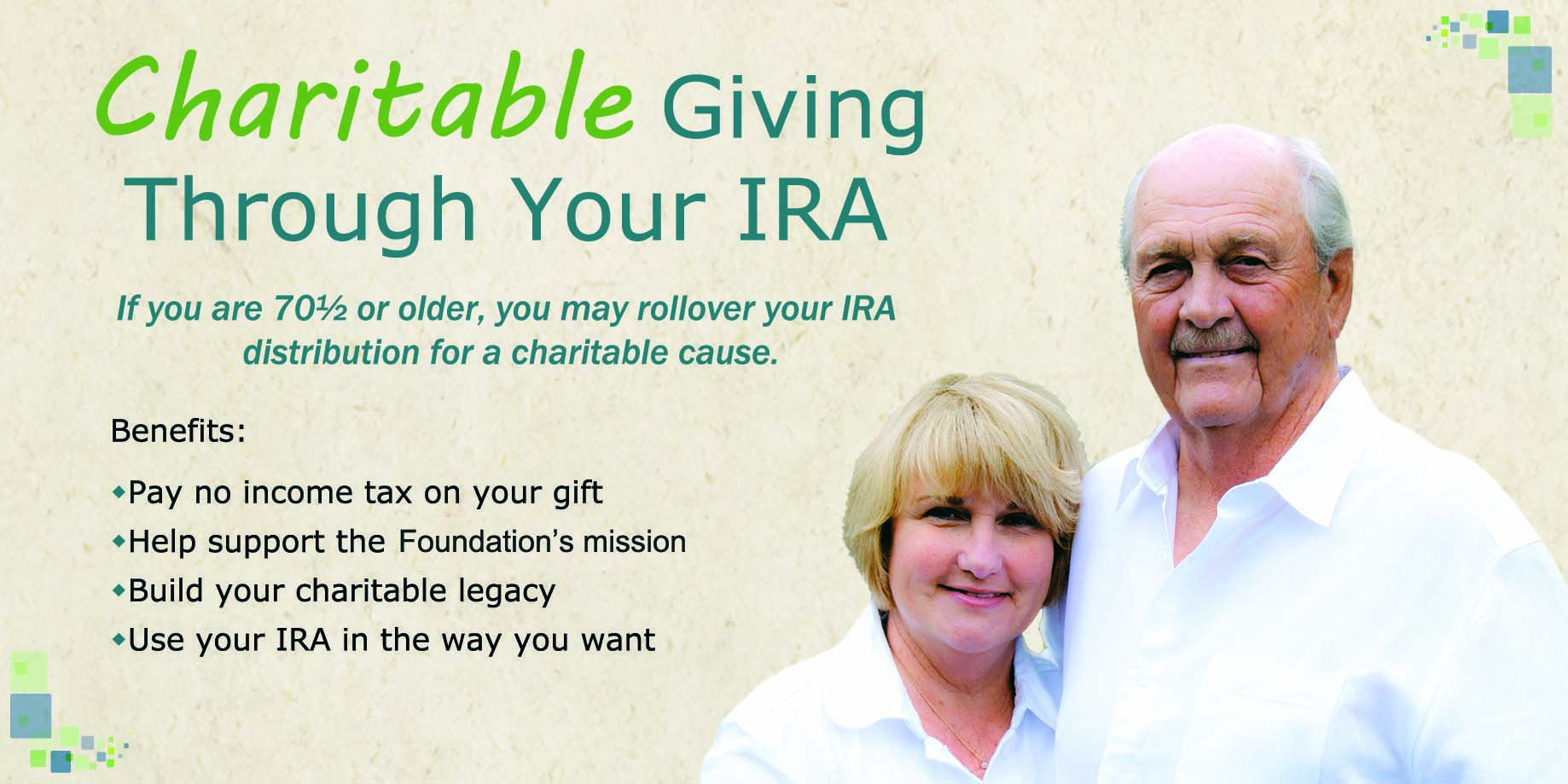 Charitable Giving Through Your IRA